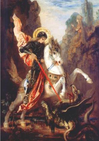 St. George & the Dragon - Gustave Moreau