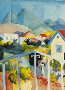 St Germain Bei Tunis - August Macke