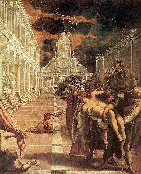 St Mark's Body Brought to Venice - Jacopo Robusti Comin Tintoretto