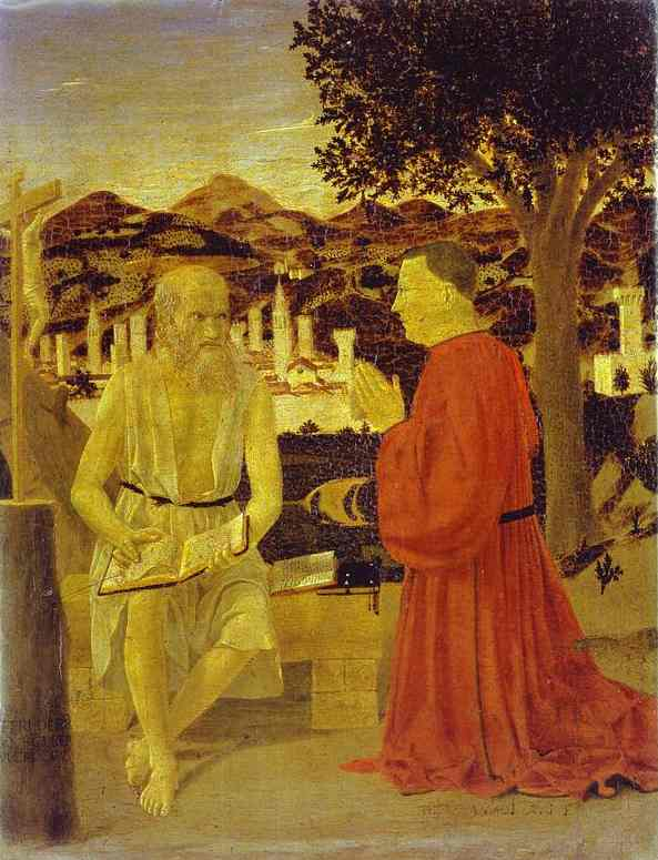 St. Jerome and a Donor - Piero della Francesca