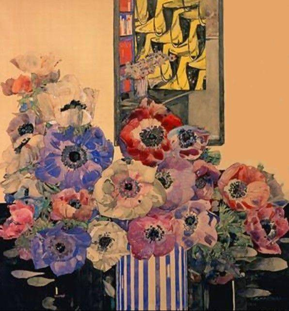 Still Life of Anemones - Charles Mackintosh