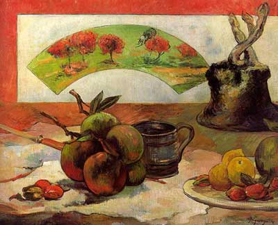 Still Life with Fan - Paul Gauguin