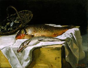 Still Life with Fish - Frederic Bazille