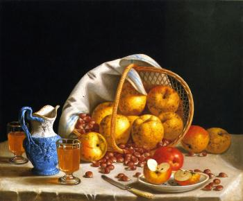 Still Life with Yellow Apples - John F Francis
