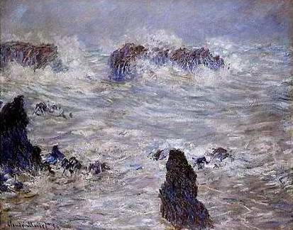 Storm on Belle-lle Coast - Claude Monet