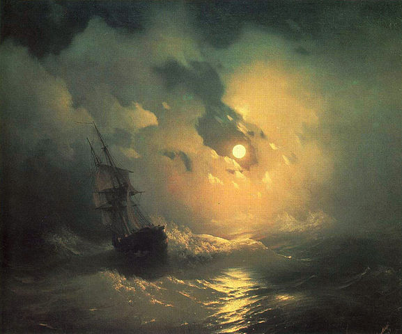 Stormy Sea in Night - Ivan Aivazovsky
