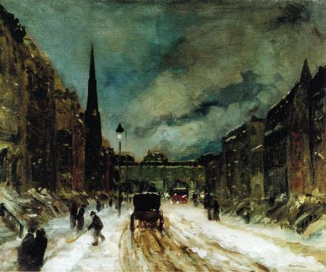 Street Scene with Snow - Robert Henri