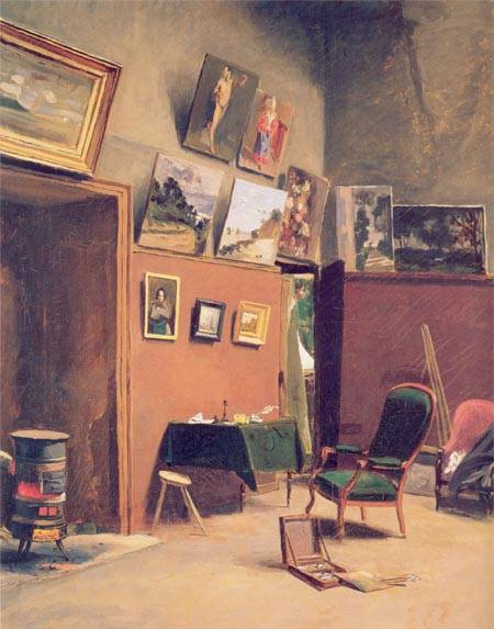 Studio in the Rue de Furstenberg - Frederic Bazille