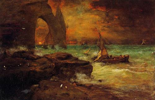 Sunset Etretat - George Inness