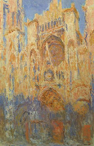 Sunset, Rouen Cathedral 1893 - Claude Monet