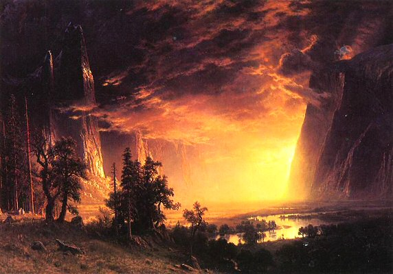 Sunset in Yosemite - Albert Bierstadt
