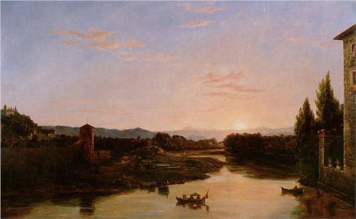 Sunset of the Arno - Thomas Cole