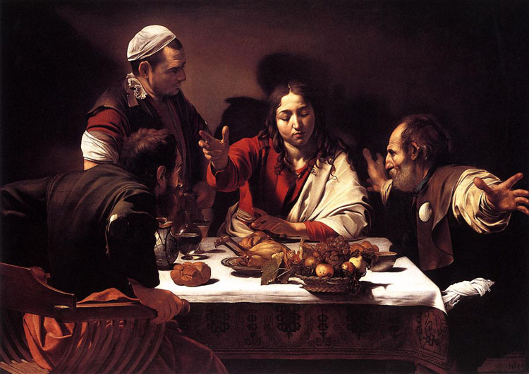 Supper at Emmaus - Michelangelo Merisi da Caravaggio