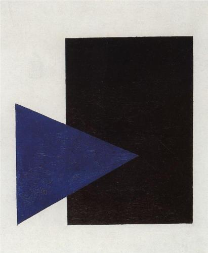 Suprematism (Blue Triangle and Black Square) - Kazimir Malevich