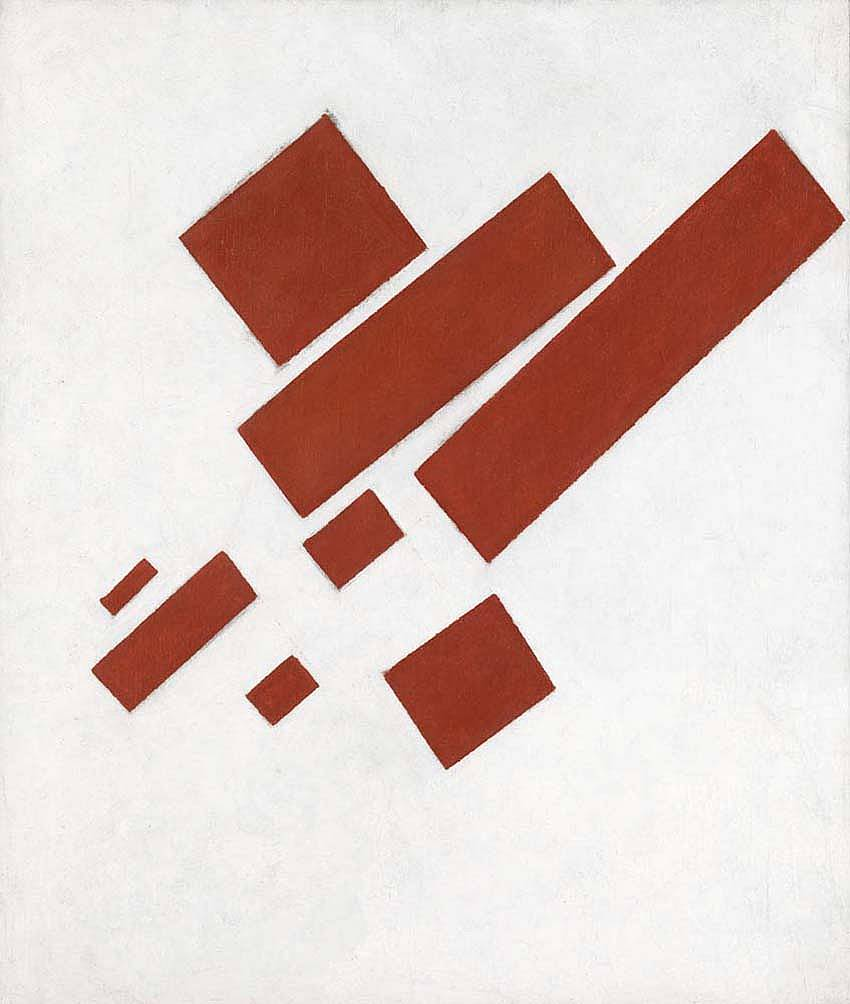 Suprematist Eight Red Rectangles 1915 - Kazimir Malevich