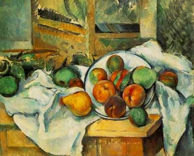 Table, Napkin & Fruit - Paul Cezanne
