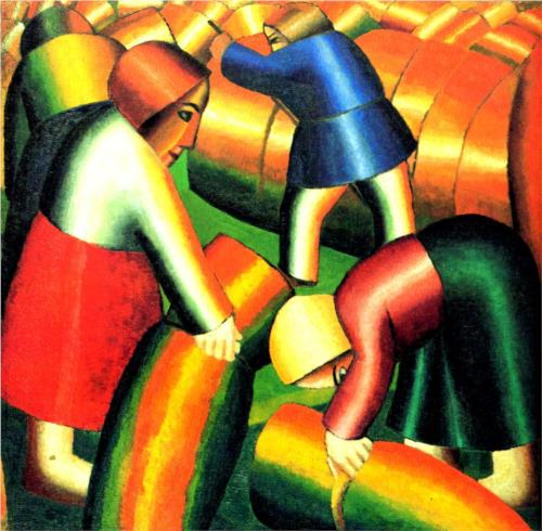 Taking in the Harvest Rye - Kazimir Malevich