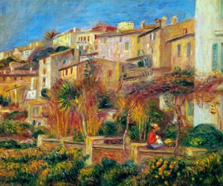 Terrace at Cagnes - Pierre Auguste Renoir