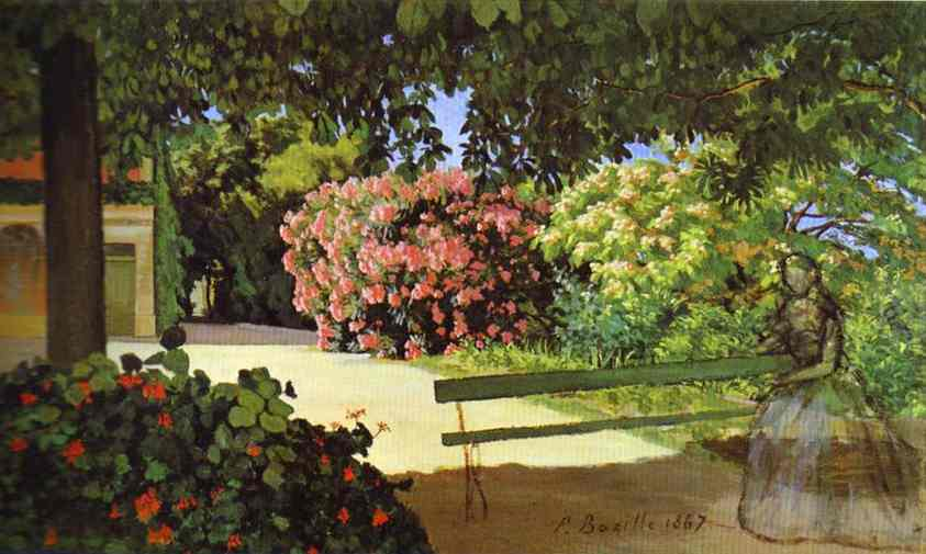 Terrace at Meric (Oleander) - Frederic Bazille