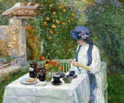 Terre-Cuite Tea Set - Childe Hassam