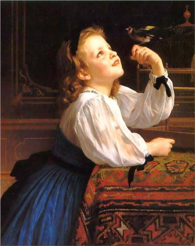 The Bird - William Adolphe Bouguereau