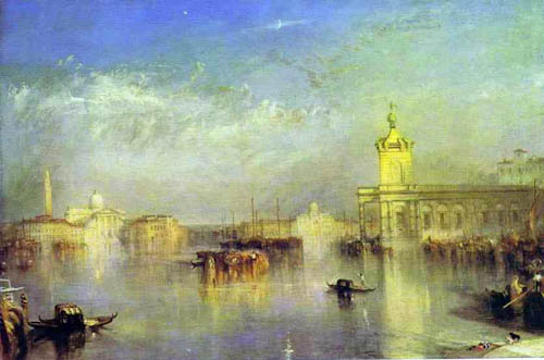 The Dogana, San Giorgio, Citella, From the Steps of the Europa - JMW Turner