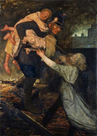 The Rescue - John Everett Millais