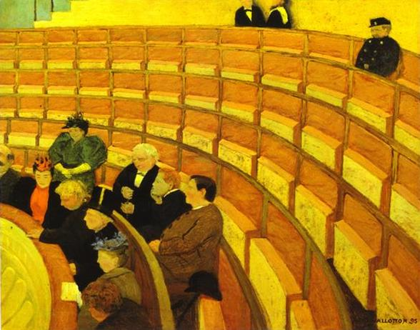 Third Gallery at the Theatre du Chalet - Felix Vallotton