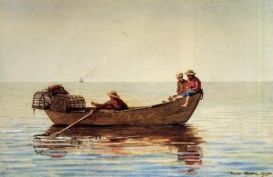 Three Boys with Lobster Pots - Winslow Homer