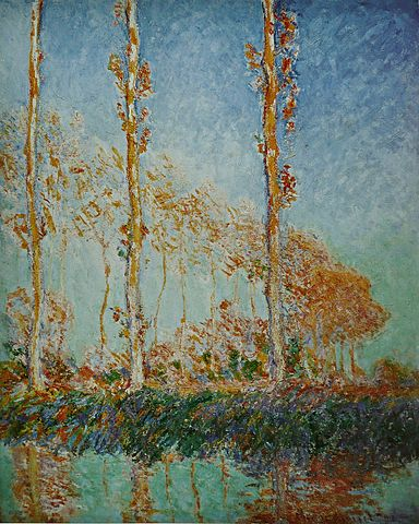 Three Poplar Trees in the Autumn - Claude Monet
