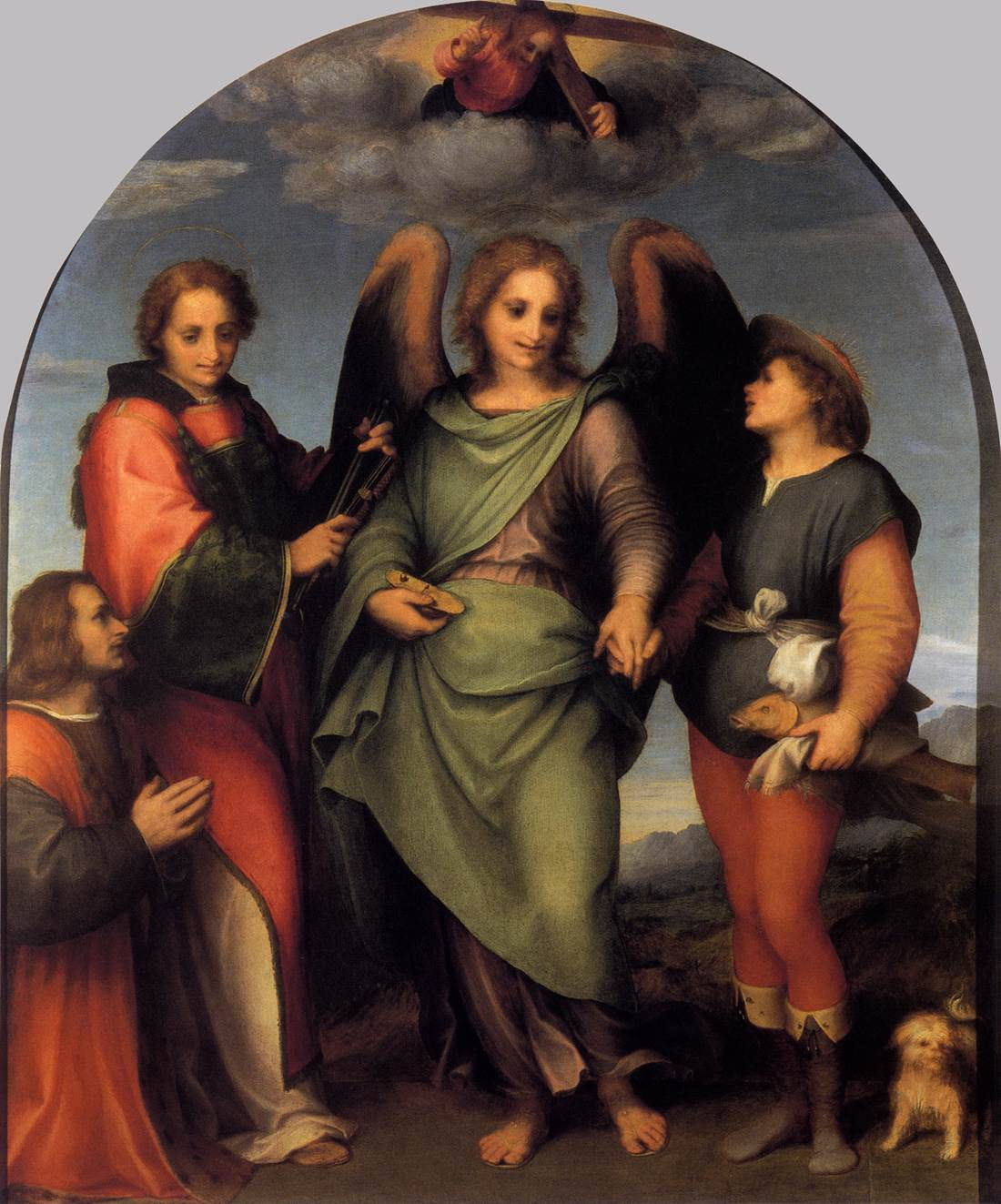 Tobias and the Angel with St Leonard - Andrea Del Sarto