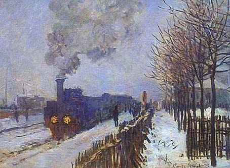 Train in the Snow - Claude Monet