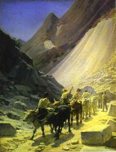 Transportation of Marble at Carrara - Nikolay Gay