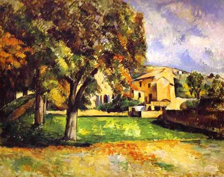 Trees in Park at Jas de Bouffan - Paul Cezanne