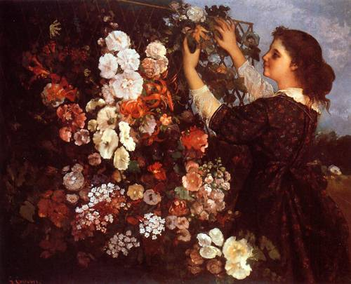 The Trellis - Gustave Courbet