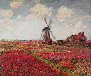 Tulip Fields in Holland - Claude Monet