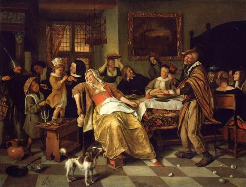 Twelfth Night - Jan Steen