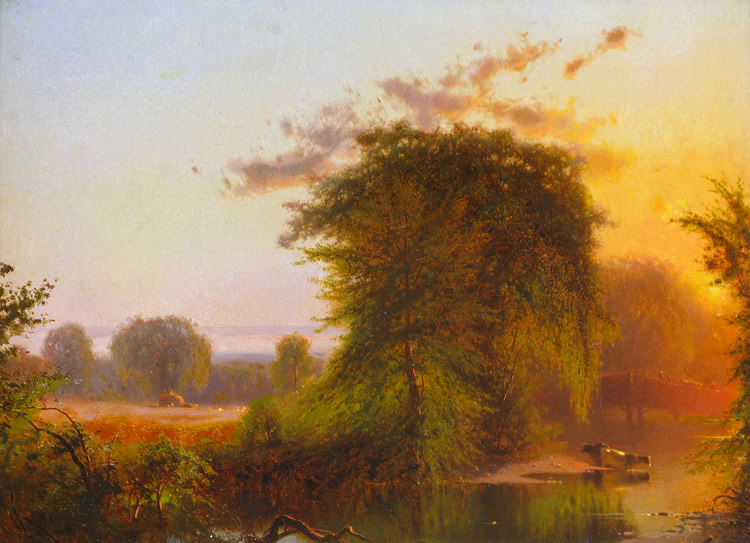 Twilight, Claverack Creek - Arthur Parton