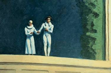 Two Comedians - Edward Hopper
