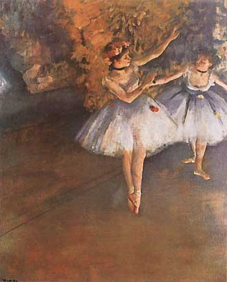 Two Dancers on Stage - Edgar Degas