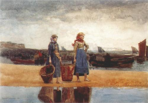 Two Girls at the Beach - Winslow Homer