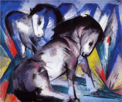 Two Horses - Franz Marc