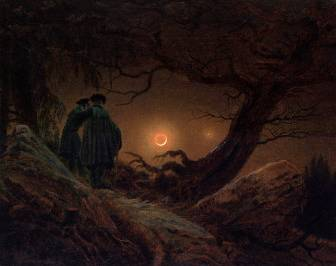 Two Men, Looking at the Moon - Caspar David Friedrich