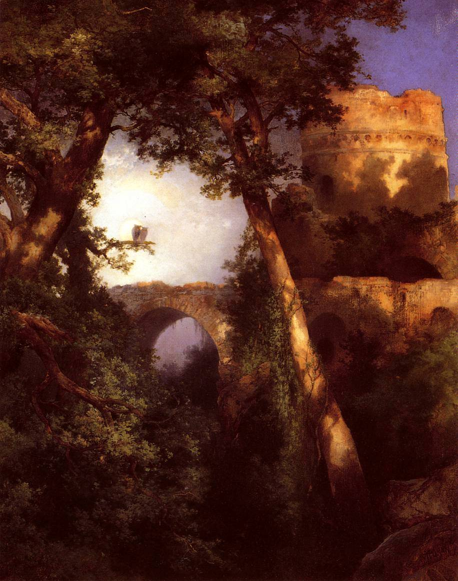 Two Owls - Thomas Moran