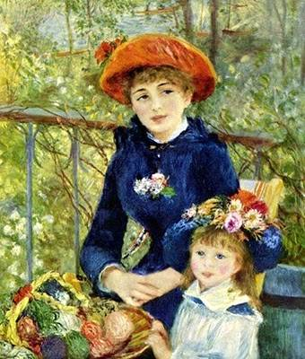 The Two Sisters - Pierre Auguste Renoir