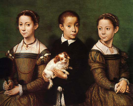 Two Sisters and a Brother - Sofonisba Anguissola