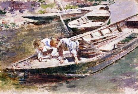 Two in a Boat - Theodore Robinson