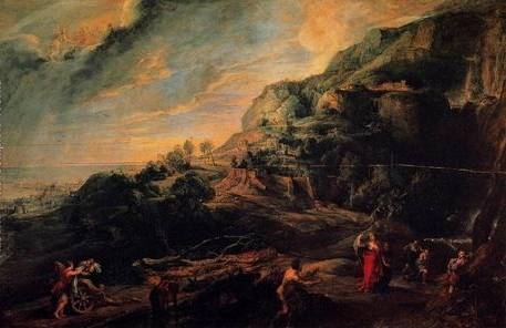 Ulysses on the Island of the Phaeacians - Peter Paul Rubens