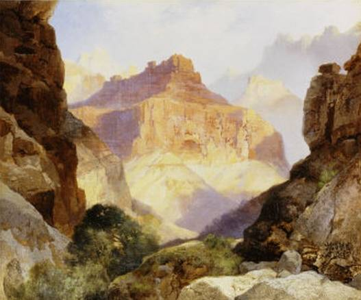 Under the Red Wall Grand Canyon of Arizona - Thomas Moran