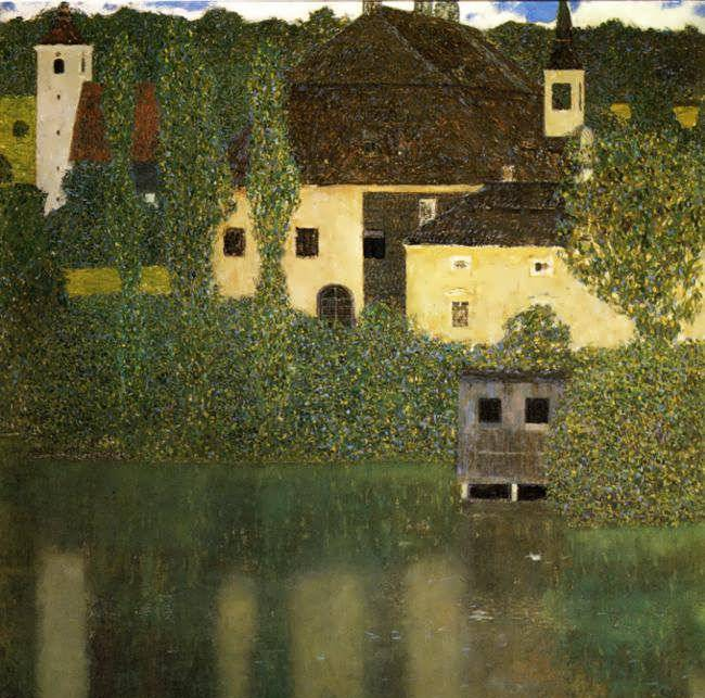 Unterach Castle on the Attersee - Gustav Klimt